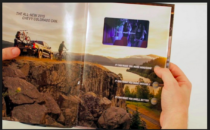 Chevy Runs Video Ads in Print Magazines